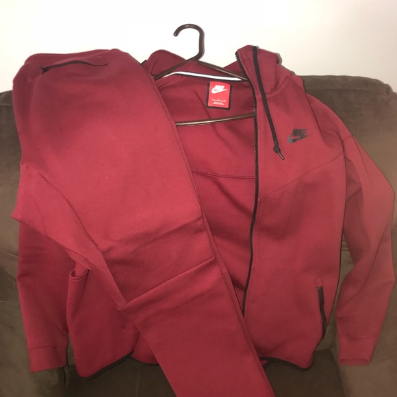 newest 1693c 7ff19 Nike Other - Burgundy NIKE TECH SUIT